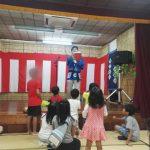大田区の神社の秋祭りのステージでのパフォーマンス